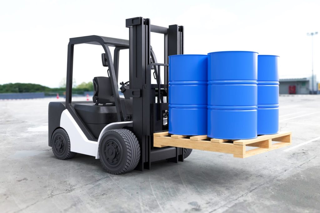 forklift-truck-is-lifting-oil-barrels